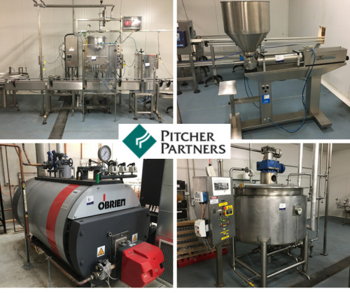 Chutney & Sauce Production & Packaging Equipment, Plant Services & Cold Storage - Liquidator's Sale