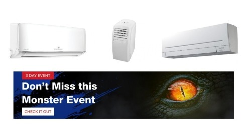Monster Sale - Heating & Cooling - All buy now prices are GST EX
