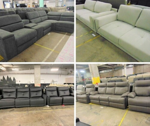 BRAND NEW Lounges, Modulars & Theatre Settings - Leather & Fabric - Insurance Sale - PICK UP ALEXANDRIA