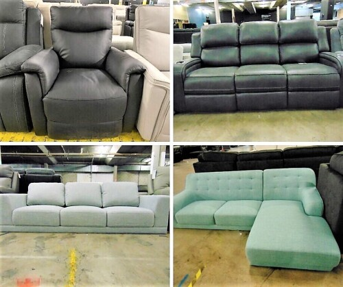 BRAND NEW 1-3 Seater Lounges,Recliners and Sofas – Leather & Fabric Insurance Claim - PICK UP ALEXANDRIA