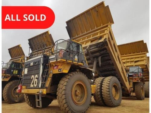 16 x 777E CAT Rigid Dump Trucks - Offered for Sale by Private Treaty