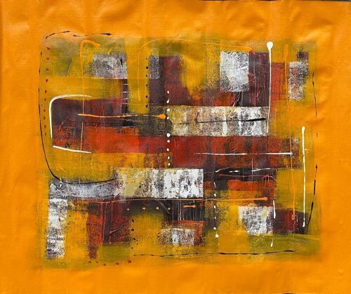 """Orange Colour"" on Canvas"