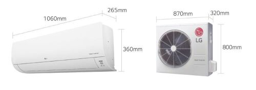 DNL LG 7.1kW Reverse Cycle Split System WH24SL-18 In\Outdoor Unit Included