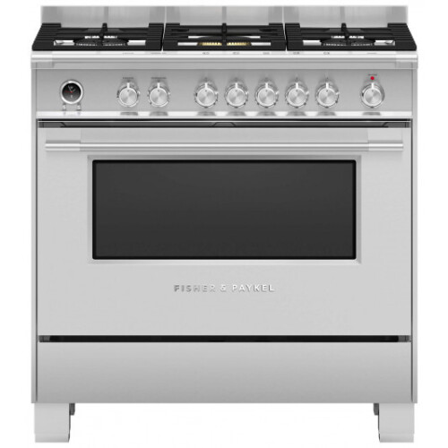 Fisher & Paykel - OR90SCG6X1 - 90cm Freestanding Dual Fuel Cooker - Stainless Steel