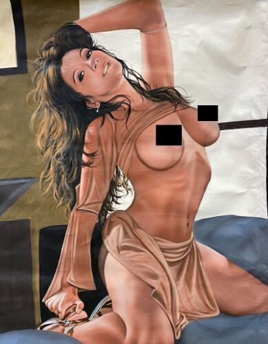"""Portrait of naked woman"" on Canvas"