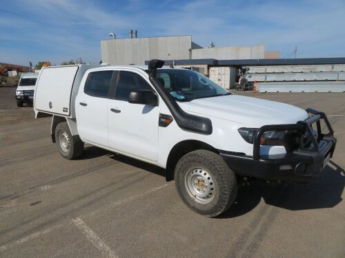 2016 Ford Ranger XL 4WD Manual Dual Cab Chassis Tray with Canopy, 3.2TD 5 Seater with 105,989 Kilometres