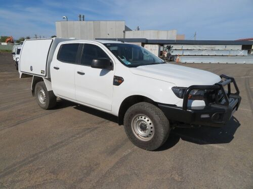 2016 Ford Ranger XL 4WD Manual Dual Cab Chassis Tray with Canopy, 5 Seater 3.2TD with 155,510 Kilometres