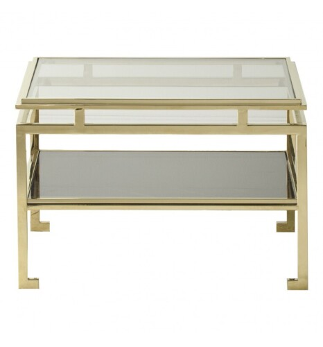 Cosenza Side Table Gold 570x570x380mm