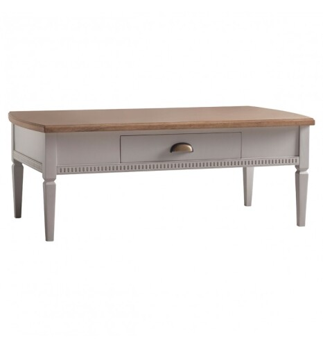 Bronte 1 Drawer Coffee Table Taupe 1200x650x450mm