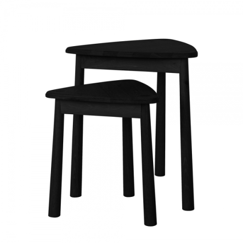 Wycombe Nest of 2 Tables Black 500x500x590mm