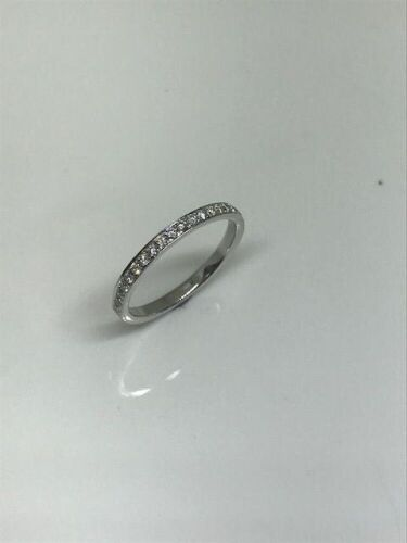 One only 18ct white gold diamond set wedding ring