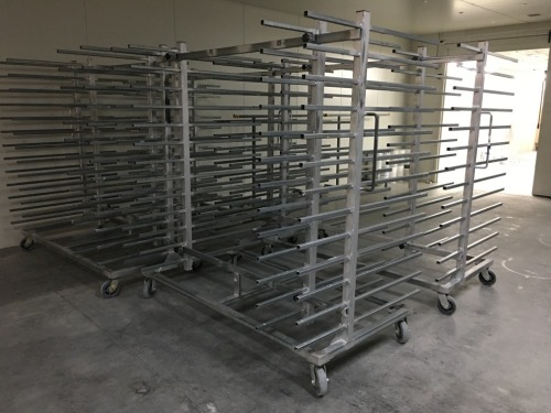 Quantity of 4 x Drying Racks, Galvanised Steel, 13 Tier each, 2000 x 1200 x 2100mm H