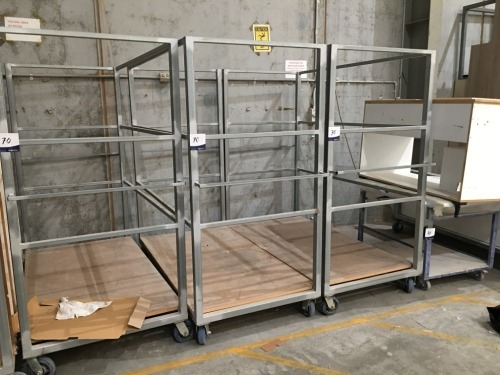 Quantity of 5 x assorted Stock Transport Trolleys
