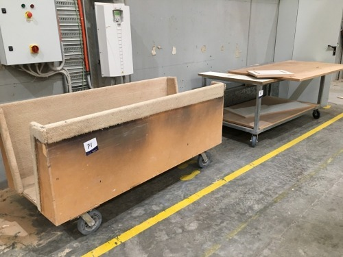 Quantity of 2 x assorted Stock Transport Trolleys
