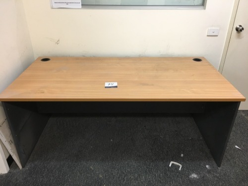 Quantity of 4 x Desks, Beech on Charcoal Laminate, also including 2 x White Desks, 6 x Gaslift Office Chairs & Whiteboard