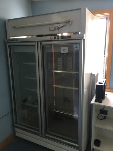 Quirks Display Refrigerator, Self Contained, Double Door, on Castors