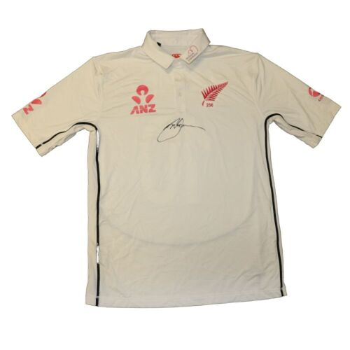Henry Nicholls New Zealand Team Signed Playing Shirt