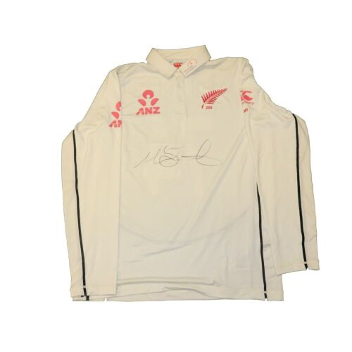 Mitchell Santner New Zealand Team Signed Playing Shirt