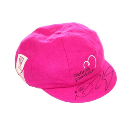 Nathan Lyon Australian Team Signed Pink Baggy