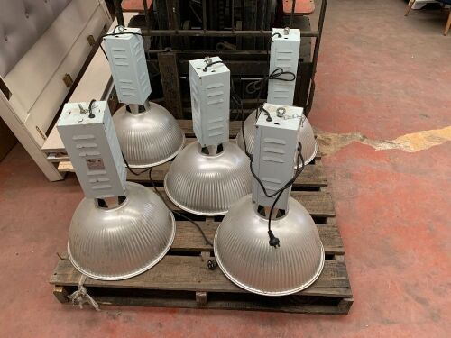"""Unreserved"" - 5 x Industrial High Bay Ceiling Lights"
