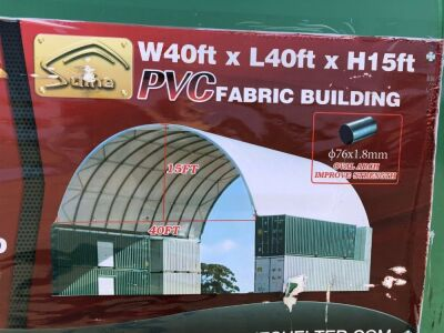 Unused 2019 40' x 40' Dome Container Shelter