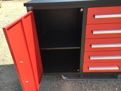 Unused 2019 10 Drawer Tool Cabinet and Workbench - 6