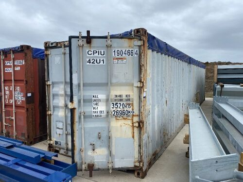 40' Modified Open Top Shipping Container - CPIU 190466.4