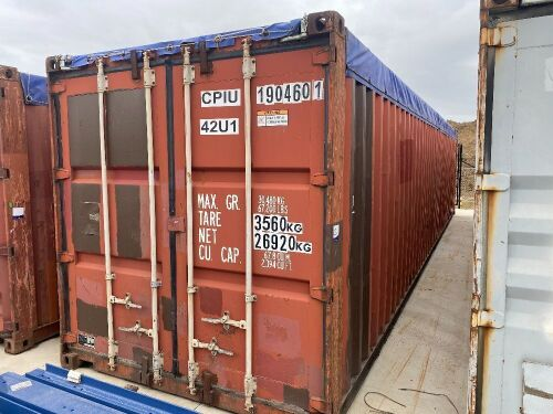 40' Modified Open Top Shipping Container - CPIU 190470.4