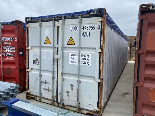 40' Modified Open Top Shipping Container - DDOU 495959.3