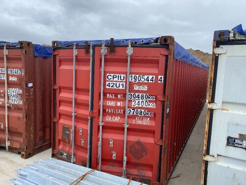 40' Modified Open Top Shipping Container - CPIU 190544.4