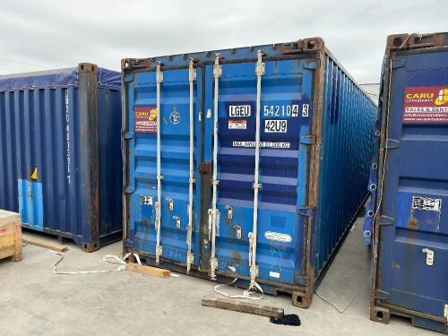 40' Modified Modified Open Top Shipping Container - LGEU 542104.3