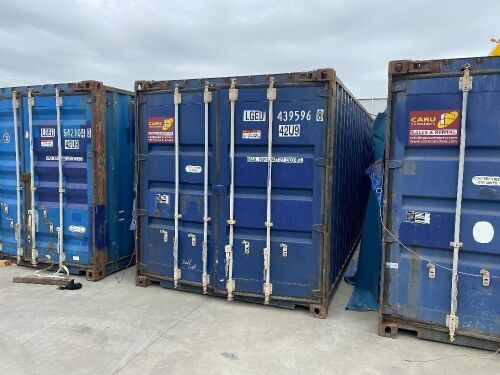 40' Modified Modified Open Top Shipping Container - LGEU 439596.8