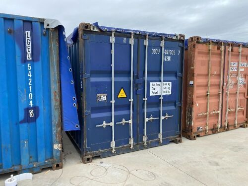 40' Modified Open Top Shipping Container - DDDU 401309.7