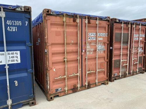 40' Modified Open Top Shipping Container - CPIU 190434.5