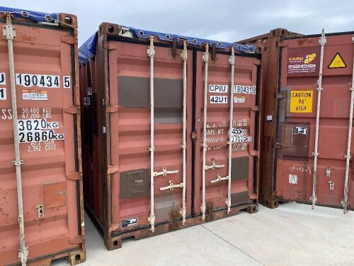 40' Modified Open Top Shipping Container CPIU 190431.9