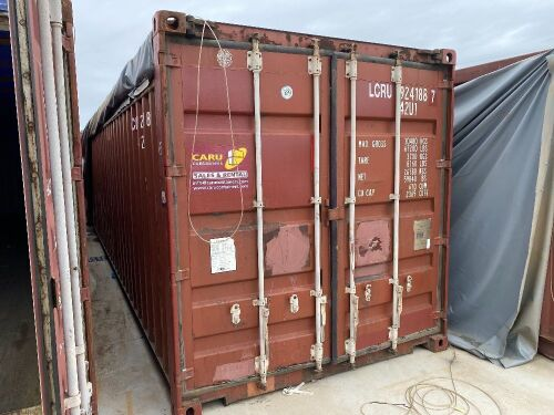 40' Open Top Shipping Container LCRU 924188.7 *RESERVE MET*