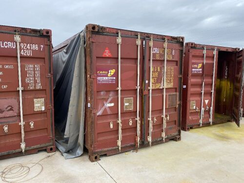 40' Open Top Shipping Container LCRU 601457.6 *RESERVE MET*