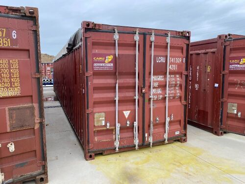 40' Open Top Shipping Container LCRU 741309.8 *RESERVE MET*