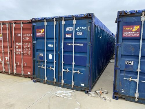 40' Modified Open Top Shipping Container LGEU 4507939.9