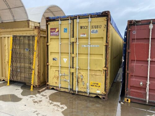 45' Modified Open Top Shipping Container WSCU 976817.2