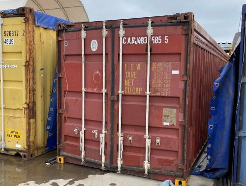 40' Open Top Shipping Container CARJ 483585.5
