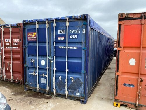 40' Modified Open Top Shipping Container LGEU 459005.4