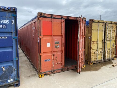 40' Open Top Shipping Container CARU 856359.1 *RESERVE MET*