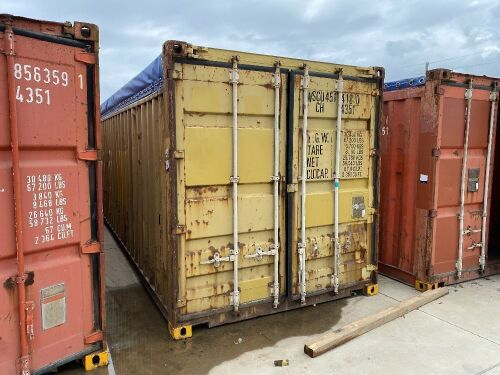 40' Open Top Shipping Container WSCU 451418.0 *RESERVE MET*