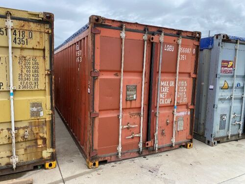 40' Open Top Shipping Container LGEU 856087.0 *RESERVE MET*