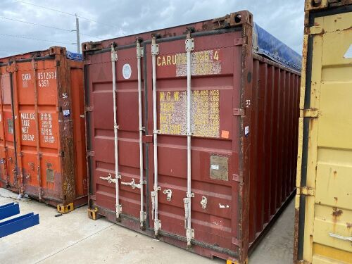 40' Open Top Shipping Container CARU 494555.4 *RESERVE MET*