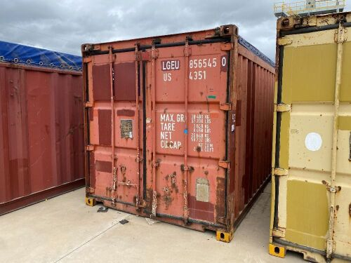 40' Open Top Shipping Container LGEU 856545.0 *RESERVE MET*