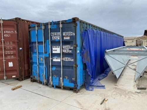 40' Modified Open Top Shipping Container MEBU 190694.7