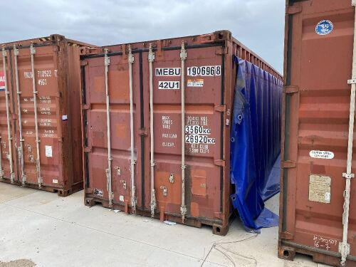 40' Modified Open Top Shipping Container MEBU 190696.8