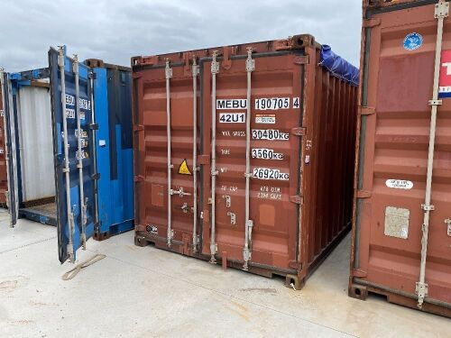40' Modified Open Top Shipping Container MEBU 190705.4